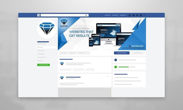 Flawless Website Design Facebook Cover Design