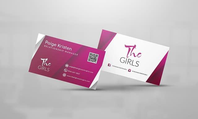THC Girls Business Card Design
