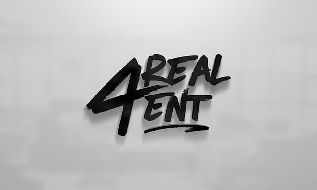 4 Real Ent Logo Design
