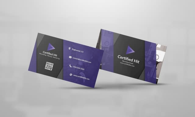 Certified Hit Business Card Design